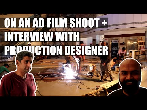 VLOG 191     On Location Of An Ad Shoot And Interview With The Production Designer