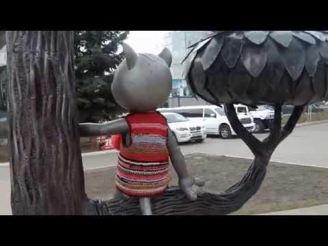 . Воронеж. Памятник Котенку с улицы Лизюкова (Союзмультфильм)