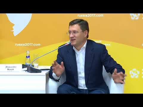 "Meeting ""Energy of the Future"" Alexander Novak, Minister of Energy of the Russian Federation"