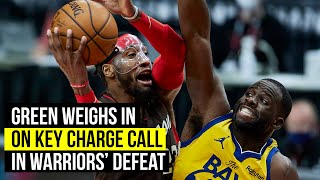 Warriors Draymond Green weighs in on pivotal charge call against Blazers