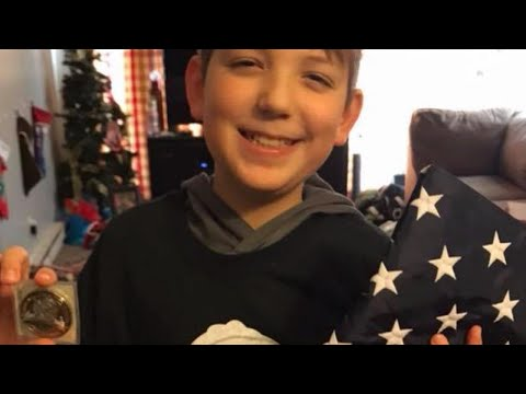 11-Year-Old Boy Surprised With Fallen Firefighter Friend's American Flag