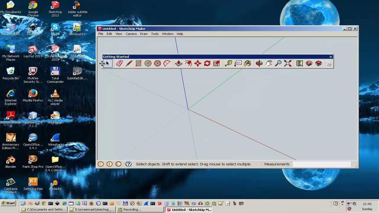 Hướng dẫn sử dụng phần mềm Sketchup vẽ mô hình 3D, phần 1 (Vietnamese)