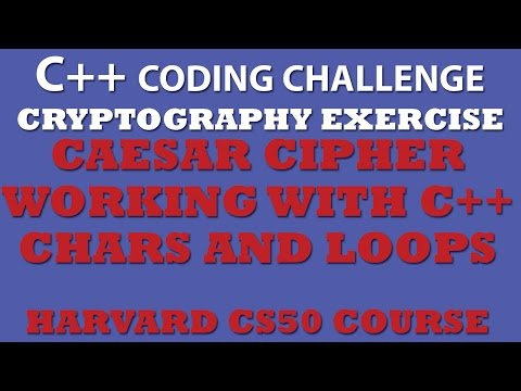 Caesar Cipher Encryption and Decryption with example in c++ ,Lecture