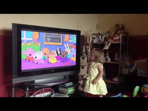 Michaela singing the Bing Bong Song - Peppa Pig