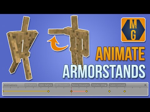Minecraft Easily Animate Full Armor Stands Youtube