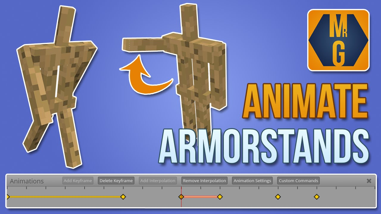 Minecraft Easily Animate Full Armor Stands