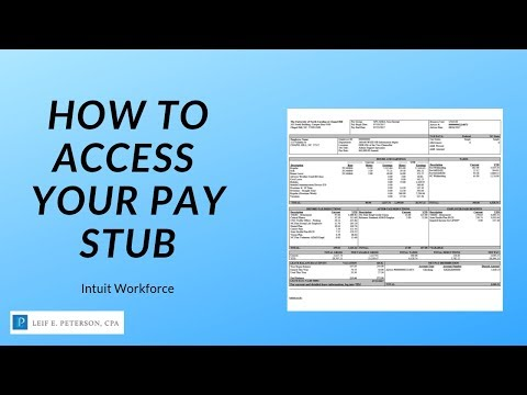 How To Access Your Paystub Through Workforce Intuit