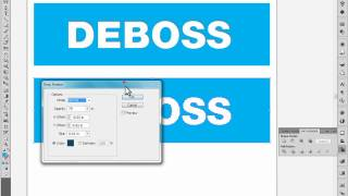 Deboss, Inner Shadow, Bevel tutorial in Adobe Illustrator
