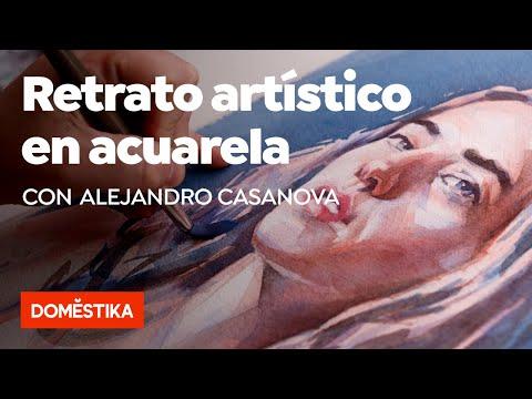 Retrato Artístico En Acuarela – Curso Online De Alejandro Casanova