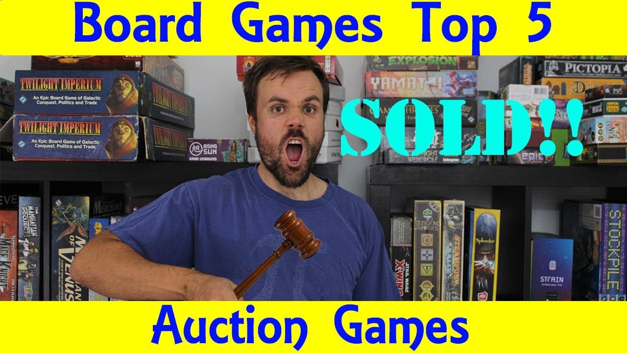 Top 5 Auction Based Board Games