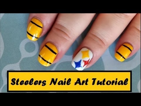 Steelers Nail Art Tutorial - YouTube
