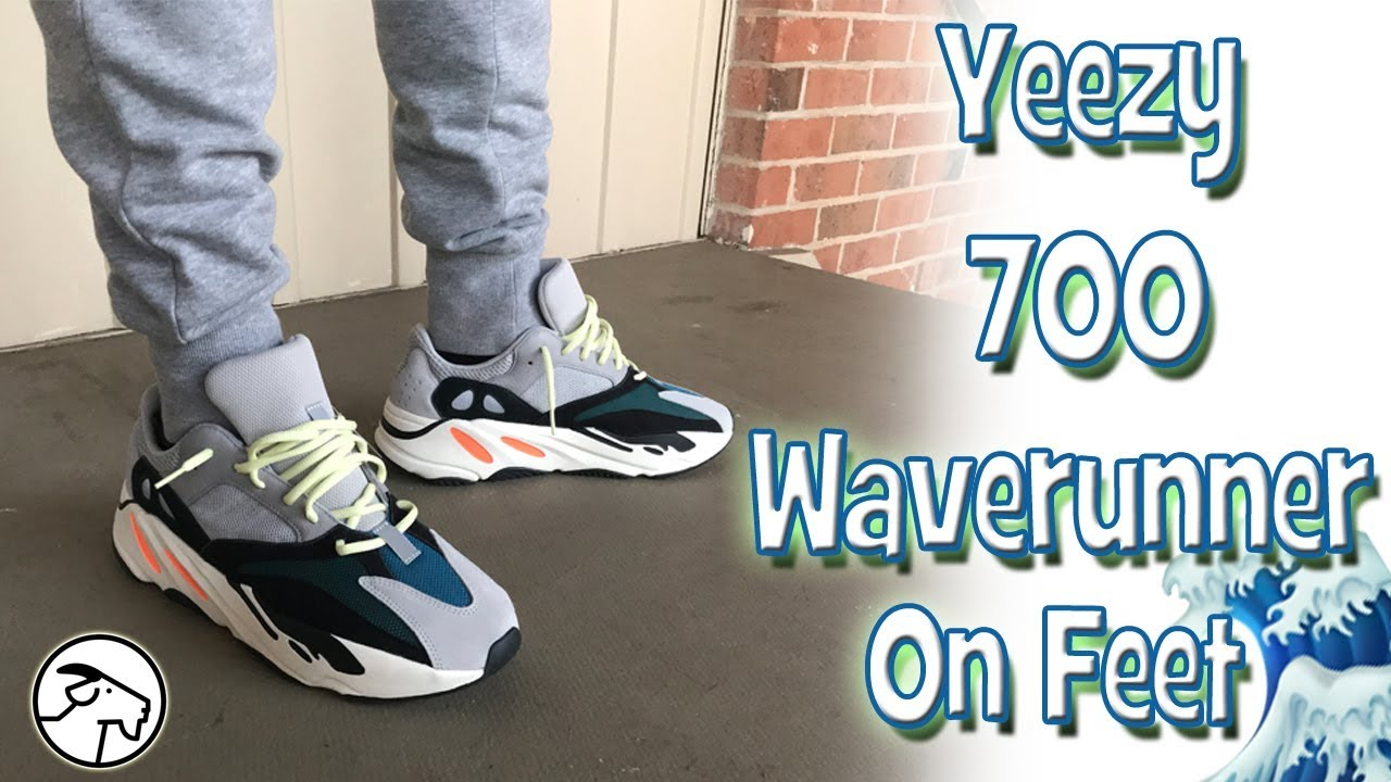 779f26e8931a8 Adidas Yeezy 700 Waverunner On Feet Review - YouTube
