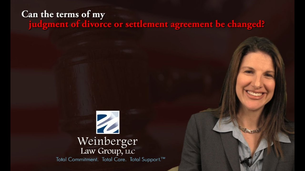 Faq Can The Terms Of My Judgment Of Divorce Or Settlement Agreement