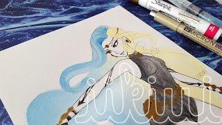 Elemental Ladies Series: Time (#7) - Watercolor Speedpaint - ♡iiKiui