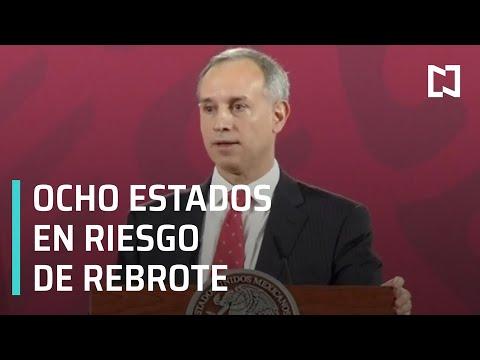 Ocho estados registran riesgo rebrote de COVID-19 en México - Despierta