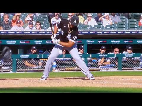 Josê Abreu Hit by a Fast & Furious Fastball From Alex Lange Chicago White Sox vs. Detroit Tigers MLB