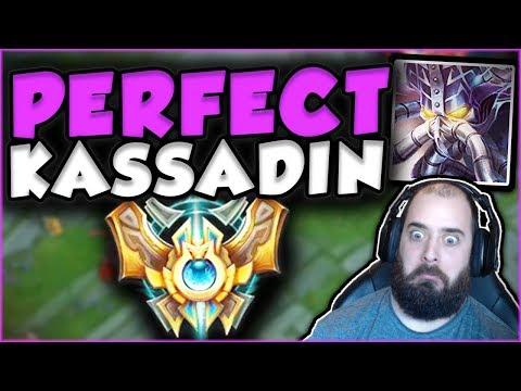 THE PERFECT KASSADIN GAME! CHALLENGER ELO IS TOO EASY! KASSADIN MID GAMEPLAY! - League of Legends