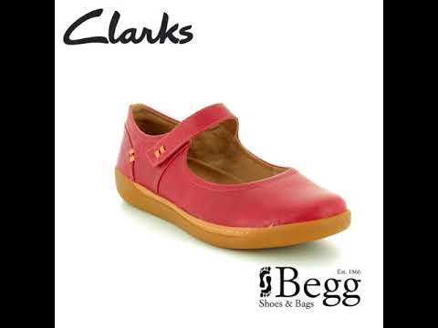 4e7bf250b8b Clarks Un Haven Strap D Fit Red Mary Jane Shoes