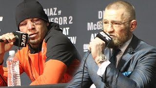 Nate Diaz Responds to Conor McGregor Saying Trilogy Fight at 155 lbs  (UFC 202)