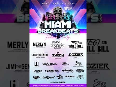 Dozier - MiamiBreakbeats.com Launch Party MMW 2018 [Promo Mix]