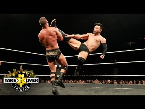 Hideo Itami kicks the gloriousness out of Roode's mouth - NXT Title Match: NXT TakeOver: Chicago