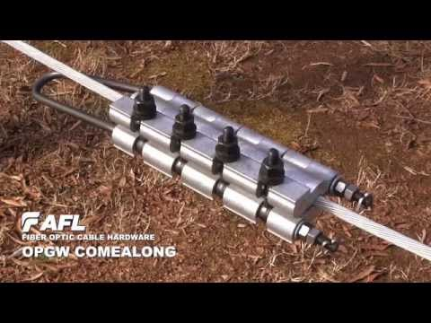 AFL OPGW Comealong Installation