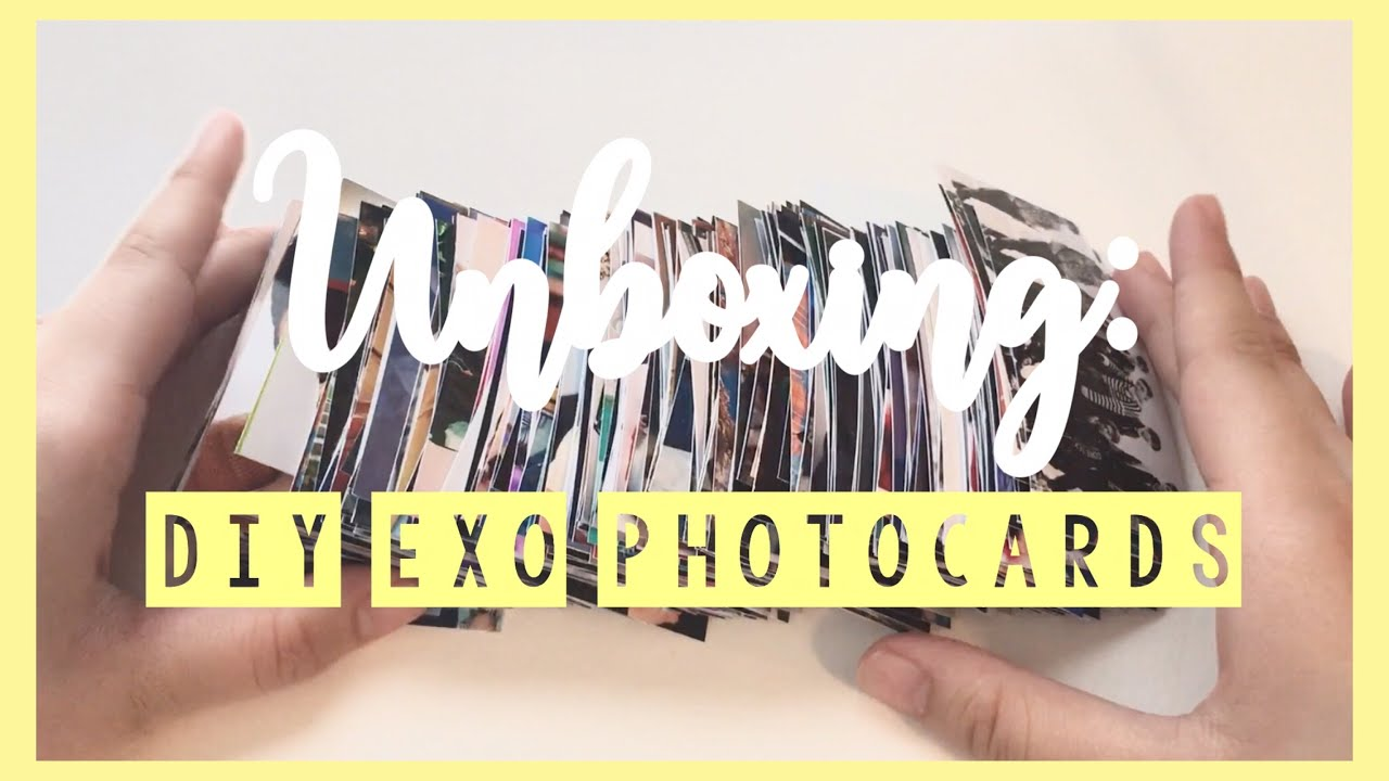 unboxing more diy exo photocards | montage ✨