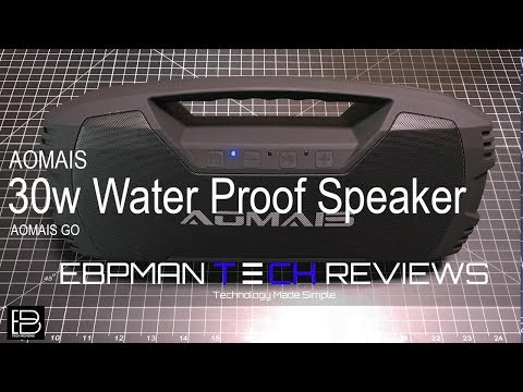 Base Blasting 30w Water Proof Speaker from AUMAIS!  Perfect for Outdoor or Indoor use!