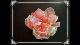 Цветок из органзы или тюля