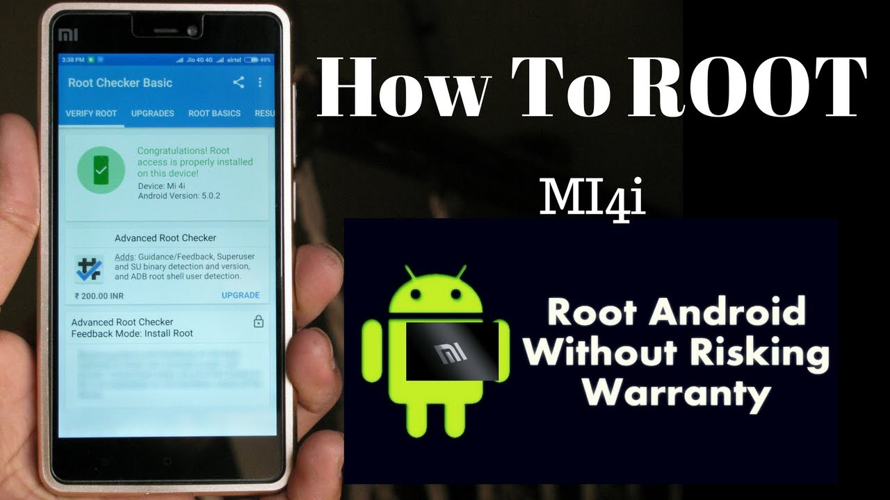 How To Root Mi4i | Easiest Method | [ Full Guide ] 2017