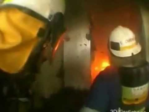 Compartment Fire Behaviour Training in a real structure   YouTube