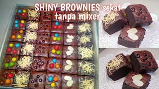 SHINY BROWNIES SEKAT tanpa mixer oven tangkring