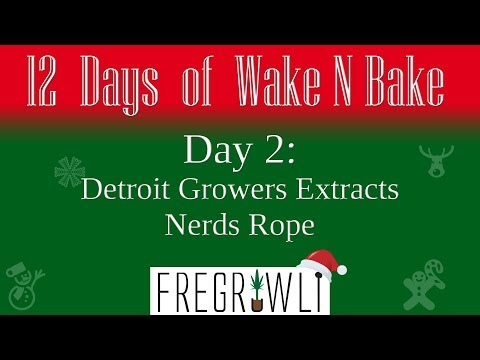2nd Day Of Wake N Bake Detroit Growers Extracts Nerd Rope Youtube