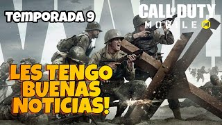 LES TENGO BUENAS NOTICIAS! TEMPORADA 9 CALL OF DUTY MOBILE