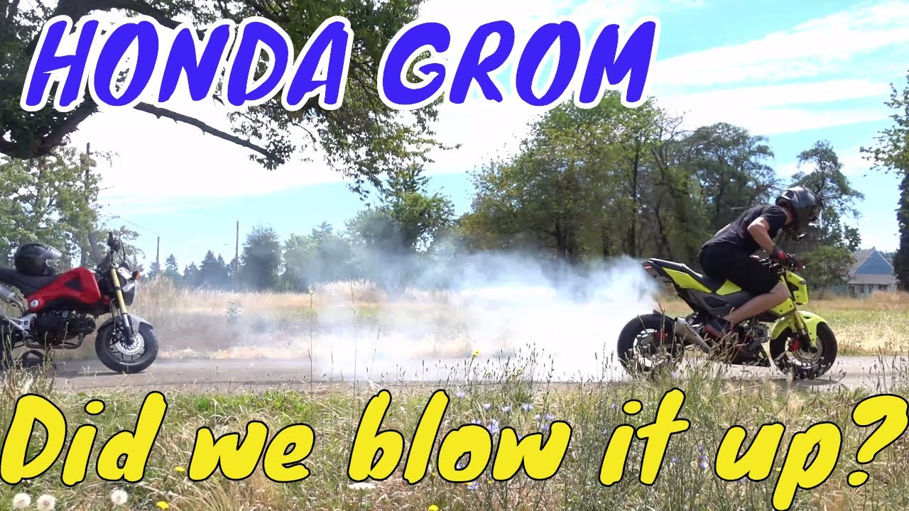HONDA GROM 170cc koso 4v, Did we blow it up?