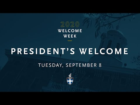 2020 President's Welcome