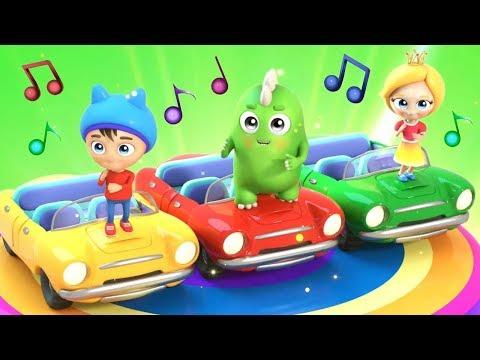Песенка мультфильм - Машинки. Развивающее видео. Учим цвета