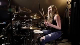 """METALLICA """"Creeping Death"""" Drum Cover~Brooke C"""
