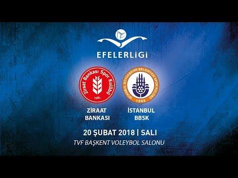 2017 - 2018 / Efeler Ligi 21. Hafta / Ziraat Bankası 3 - 0 İstanbul BBSK