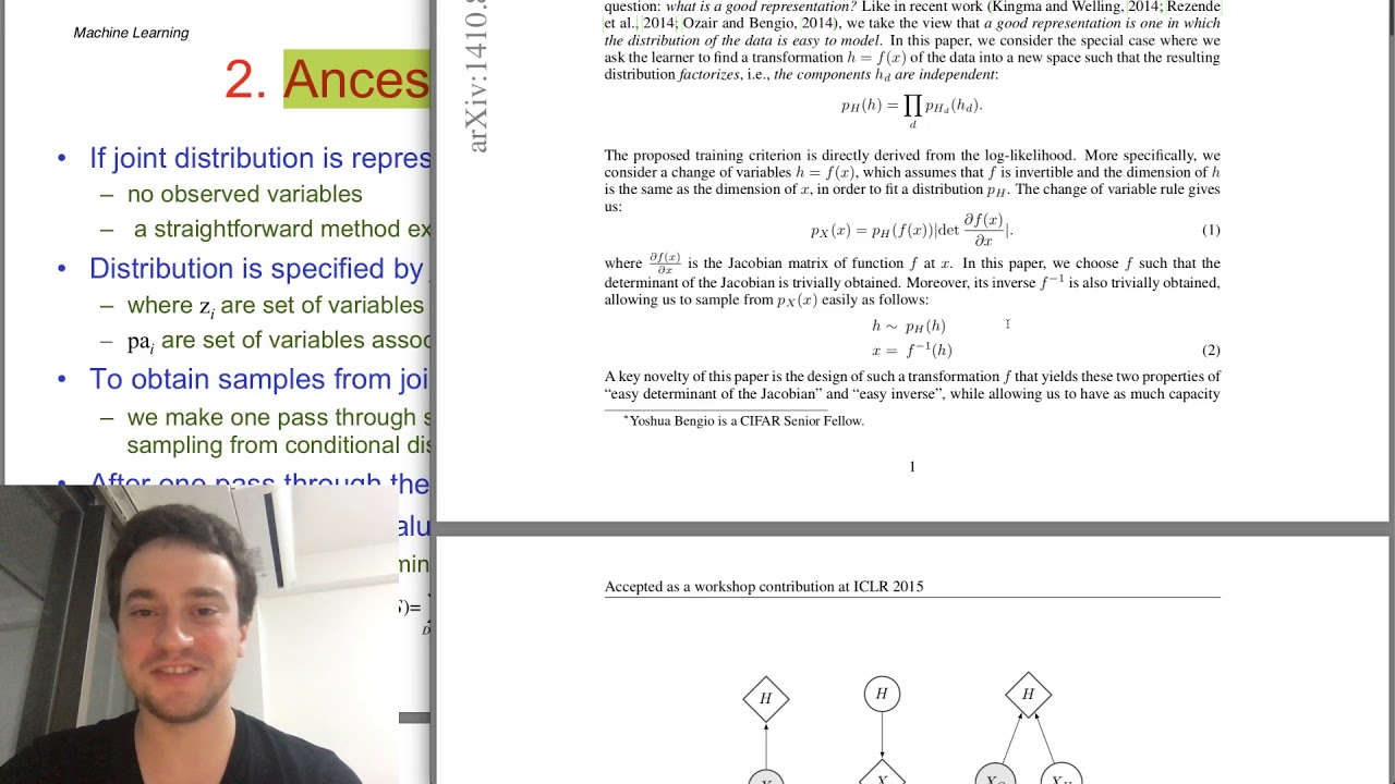 Download George Hotz | Programming | Reading ML paper: NICE (Non-linear Independent Component Estimation)