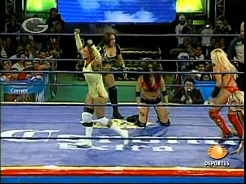 AAA: Fabi Apache, Mari Apache, Cinthia Moreno vs. Rain ...