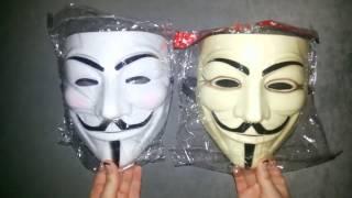 Маска Гая Фокса (белая и кремовая) | Guy Fawkes Mask | Маска из фильма В означает Вендетта