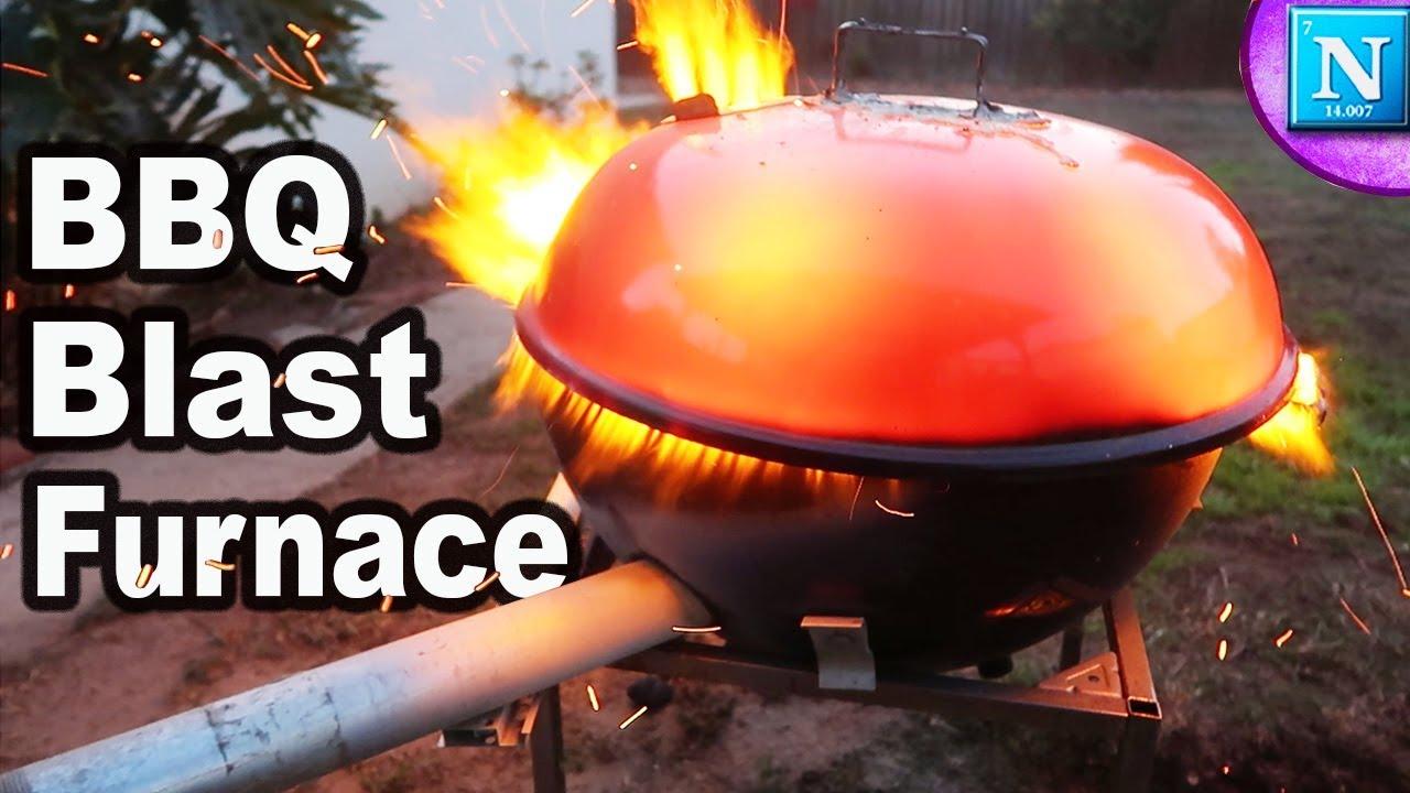 BBQ Blast Furnace DIY - YouTube
