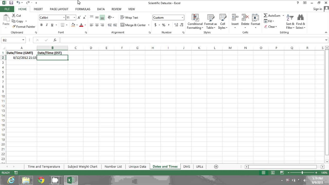How To Convert GMT Time In Microsoft Excel MIcrosoft Excel Tips