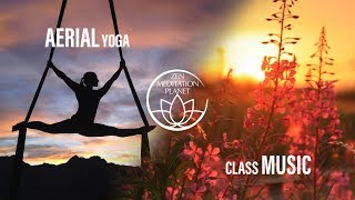 Aerial Yoga Class:  Training with Music, Home Exercises, Swing Hammock Fitness, Pilates