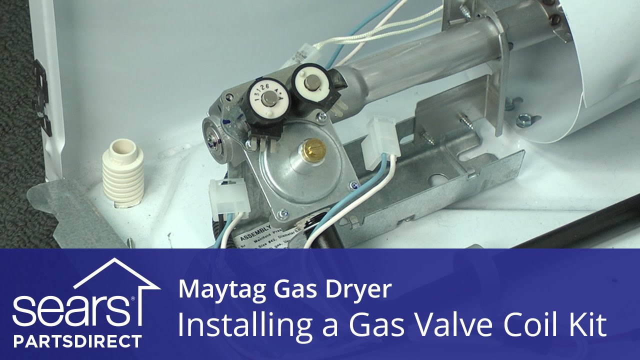 How to Install a Maytag Dryer Gas Valve Coil Kit - YouTube