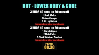 Week 14   HIIT Lower Body & Core
