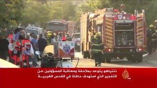 إصابة 19 إسرائيليا في تفجير حافلة بالقدس