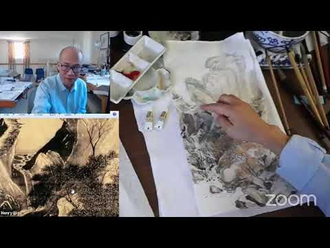 Henry Li's Live Streaming: CLASSICAL CHINESE LANDSCAPE PAINTING Lesson 16 - Dong Qichang
