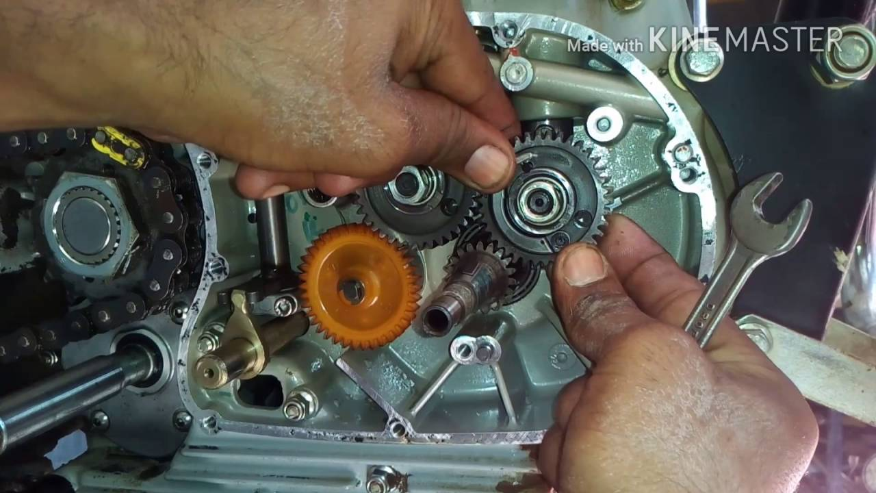 Royal Enfield Engine Tappet Noise Problem Timing Gear Setting